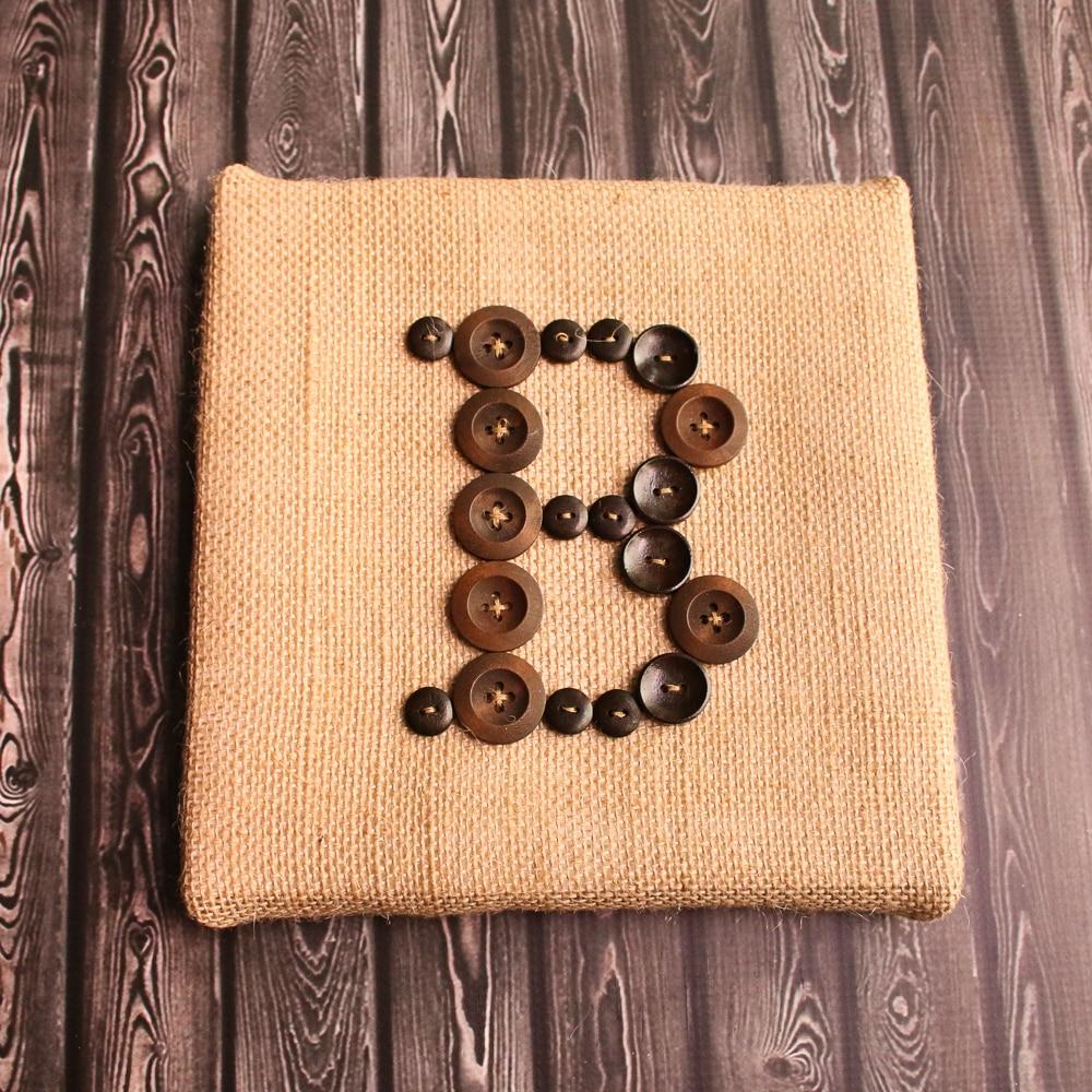 Rustic Button Monogram Art
