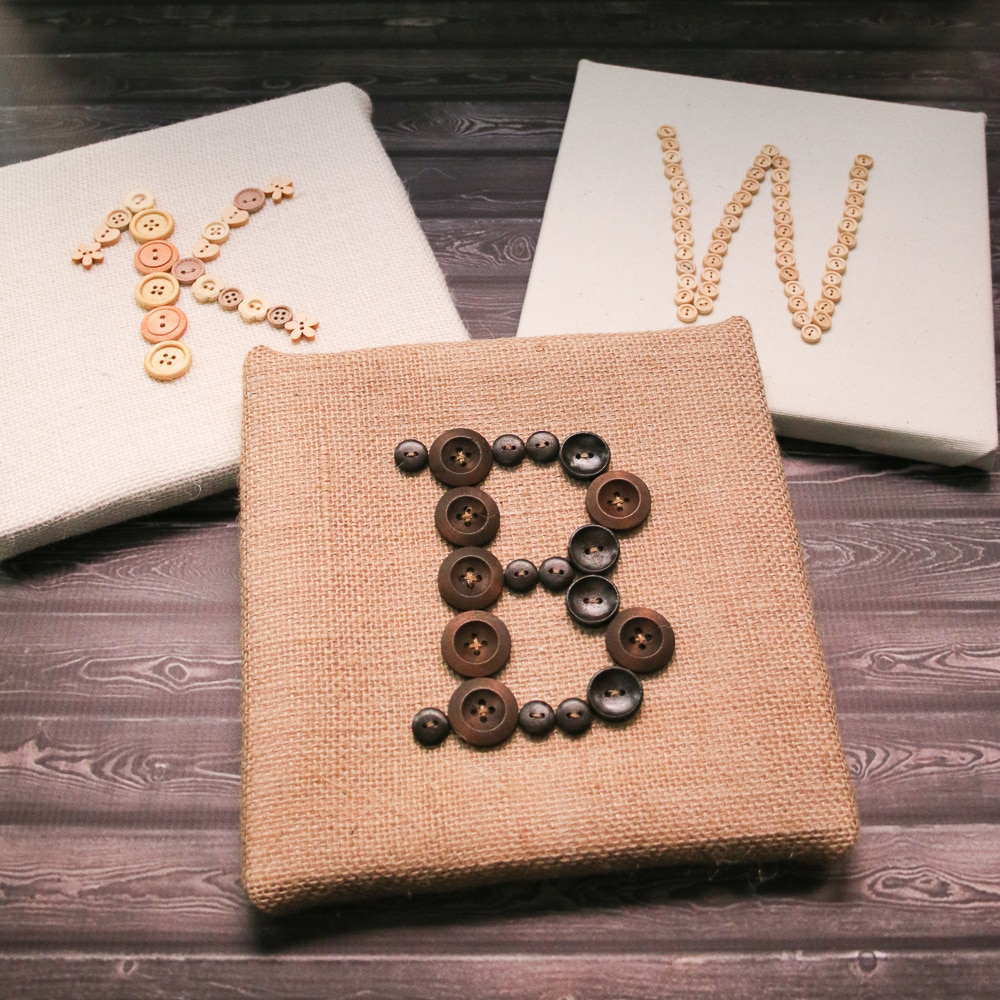 Learn how to make a Rustic Button Monogram Canvas Art piece to use as decor for your wedding day or as a decorative accent in your home!
