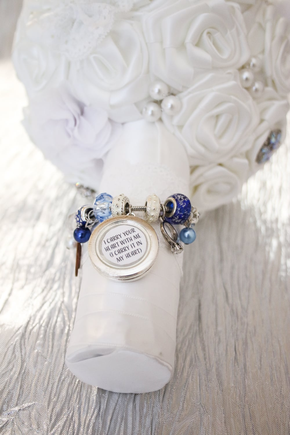 Something Old New Borrowed And Blue Bracelet Or Bouquet Charm The Budget Savvy Bride