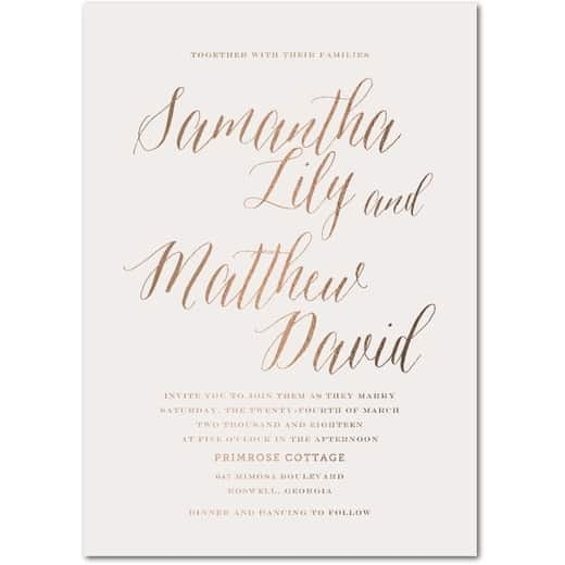 Modern Arrangement - Signature White Wedding Invitations in Light Gray or Rich Black | simplyput by Ashley Woodman