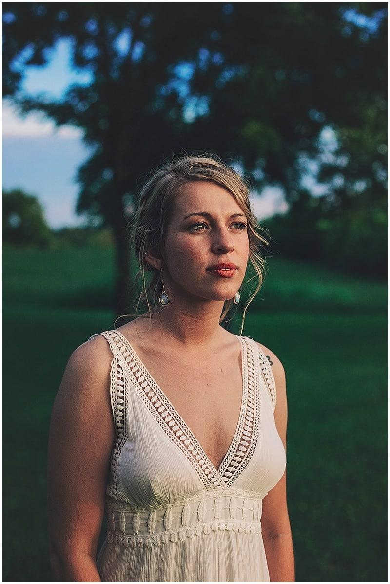 natural wedding look