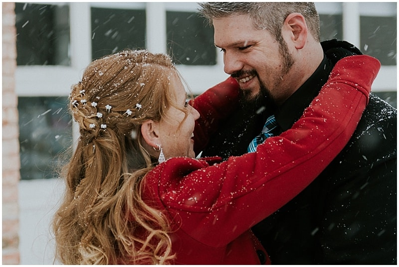 winter wedding photos