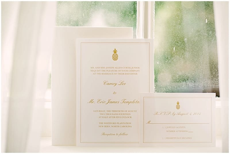 elegant invitation suite