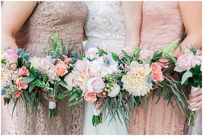 pink wedding photos