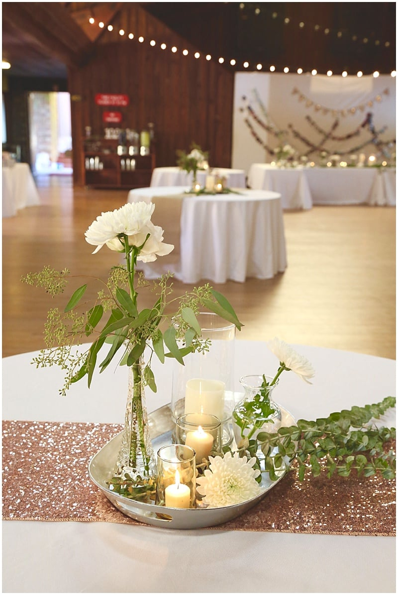 candle lit wedding decor