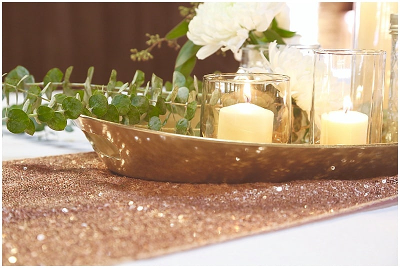 sparkly table runners