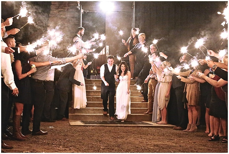 sparkler wedding get away