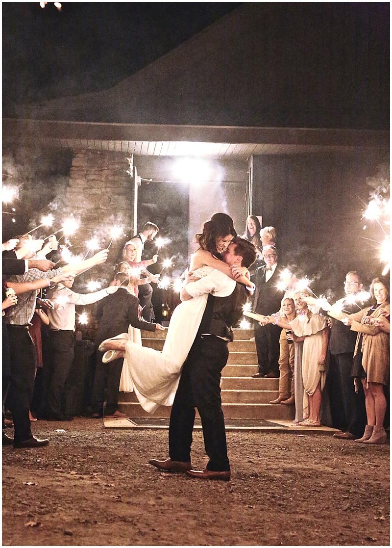 sparkler wedding get away