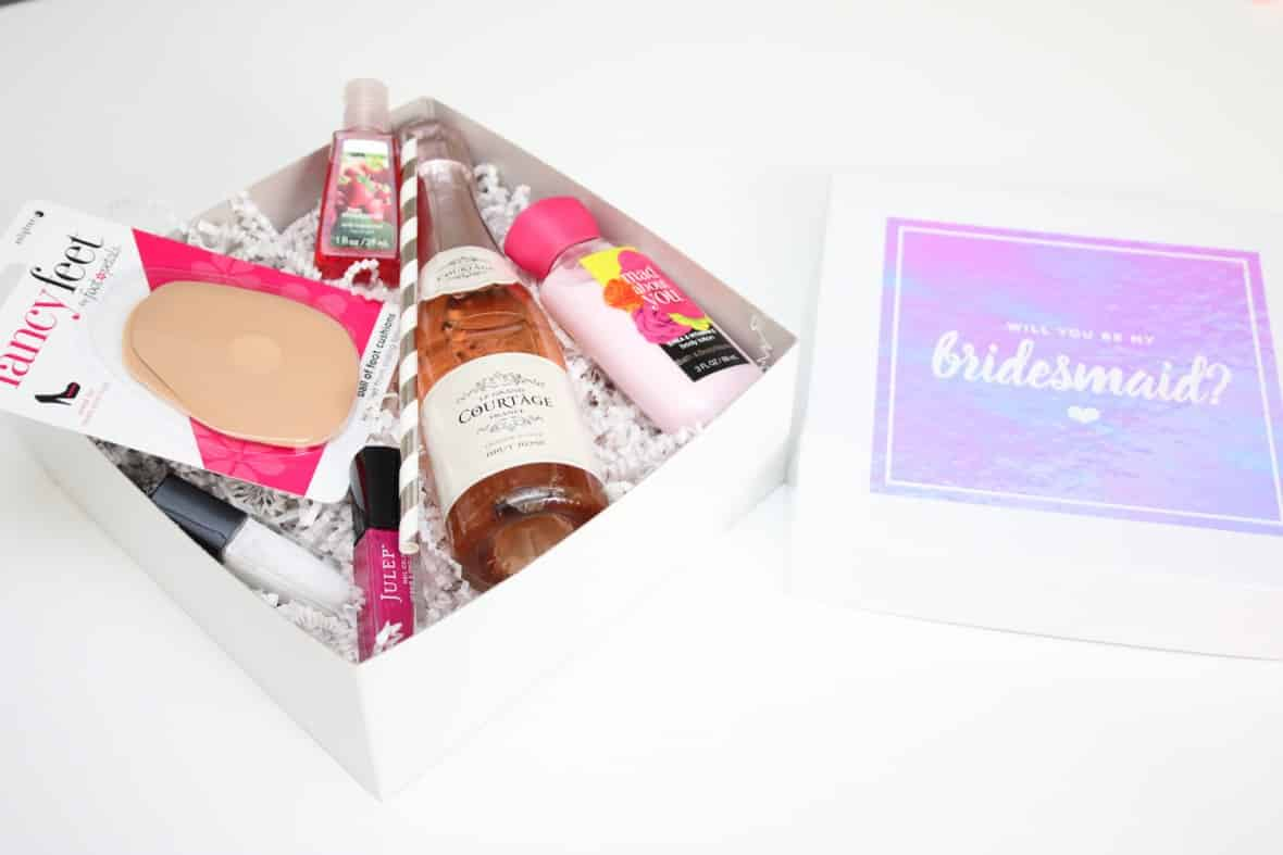 Cricut bridesmaids proposal box with free Cricut Cut File
