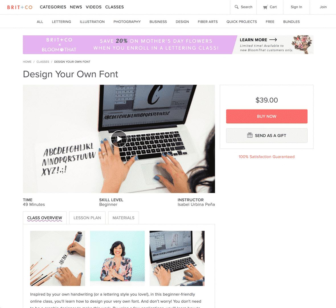 Brit + Co - Design Your Own Font Course