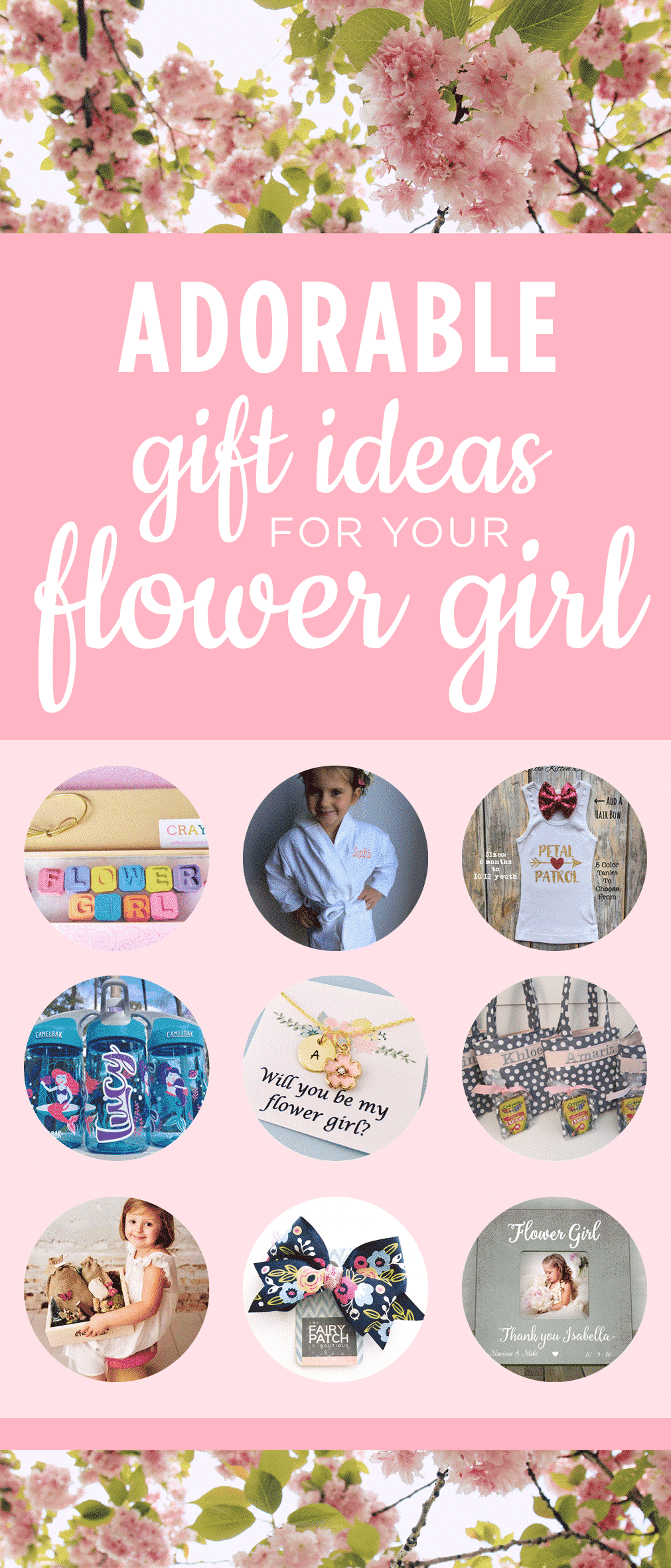 In this month's Etsy Finds at The Budget Savvy Bride, discover ten unique and thoughtful flower girl gifts or accessories, perfect for any little girl.