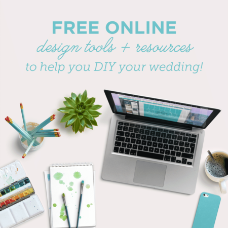 free design tools to help you diy your wedding details!