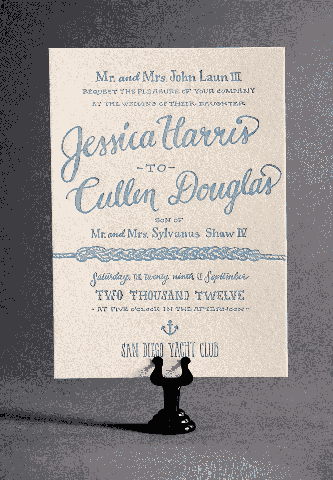 Wedding Invitations on a Budget: Ladyfingers Letterpress