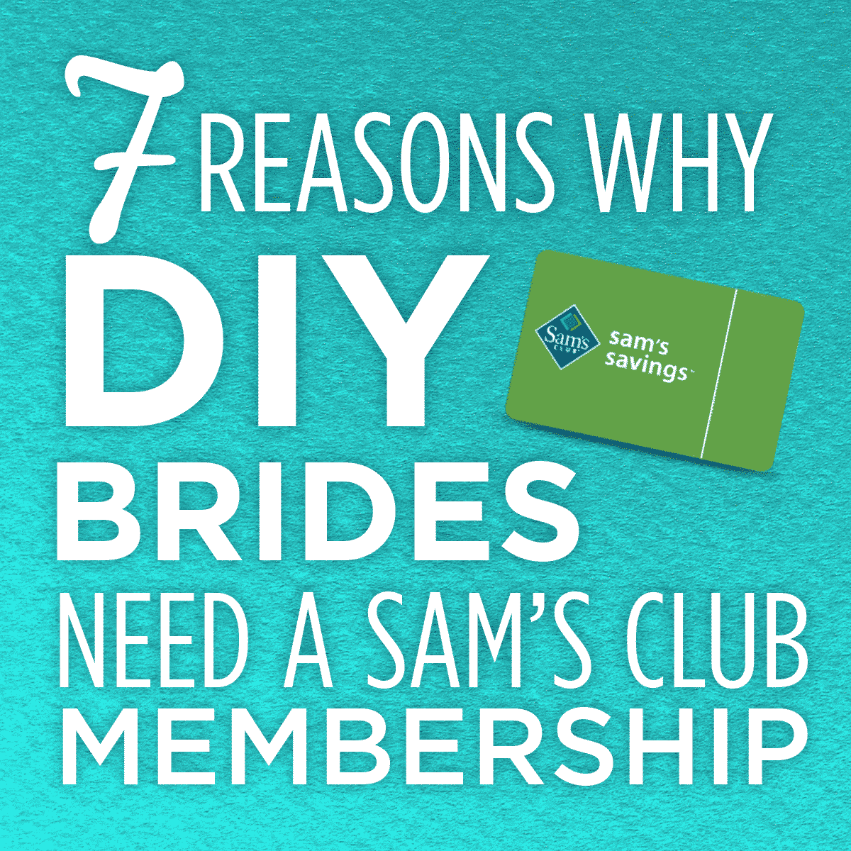 heck out all the reasons that DIY brides need a Sam's Club Membership -- see how much it can save you on everything you need for your big day!