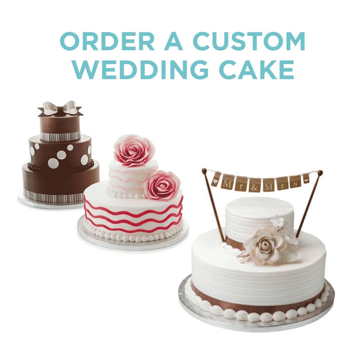 Order a custom wedding cake at Sam's Club!