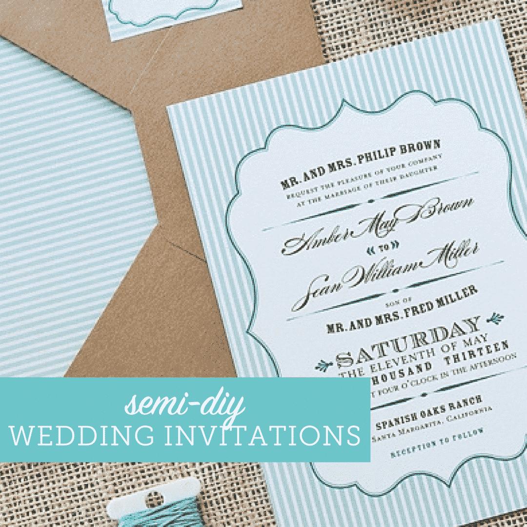 Semi Diy Wedding Invitations On A Budget