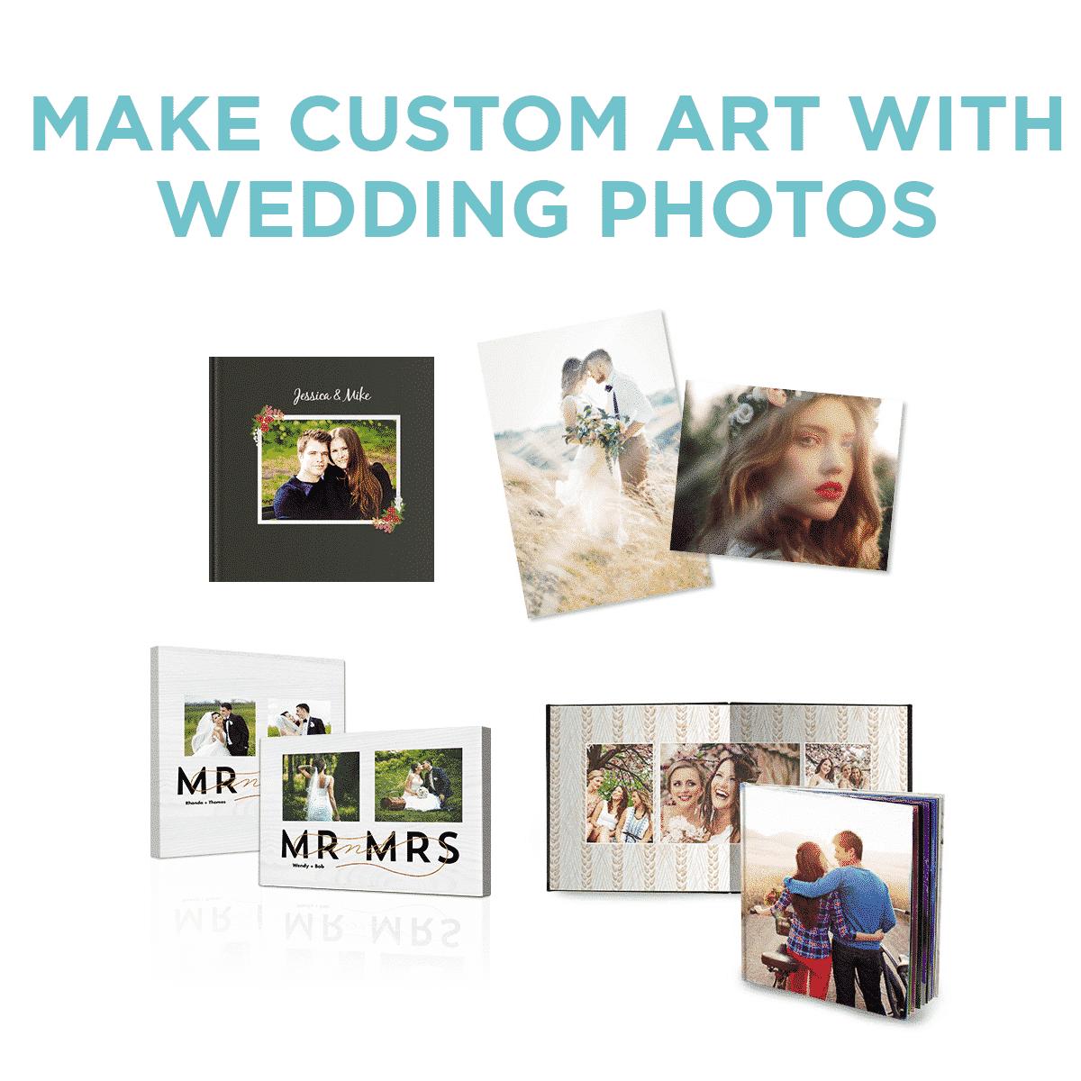 turn your wedding photos into custom art at Sam's Club