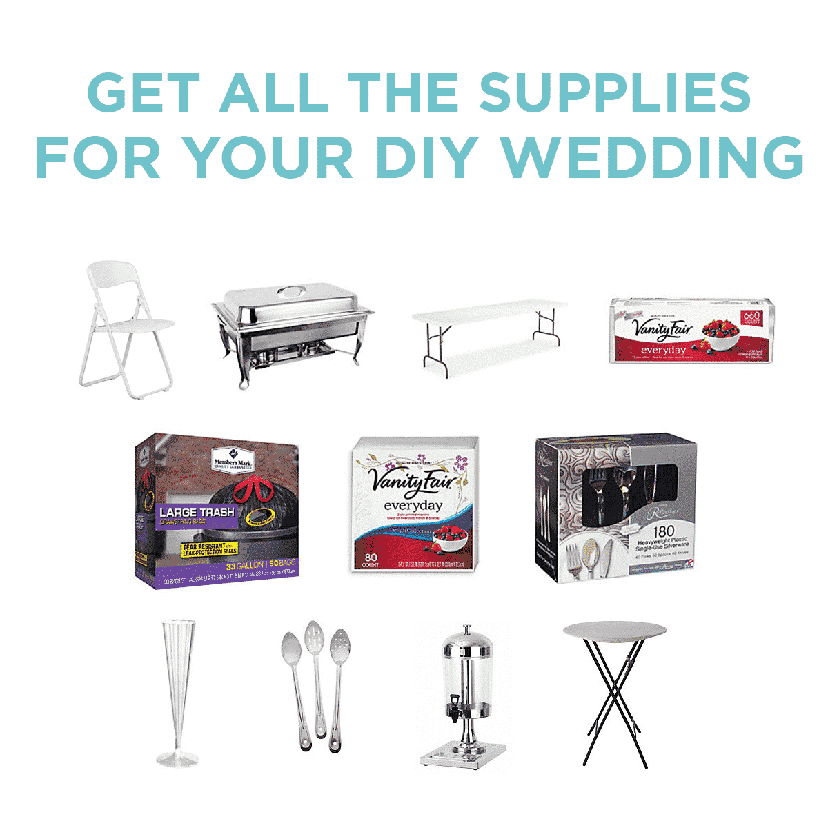 Get all the supplies you need for your DIY wedding at Sam's Club