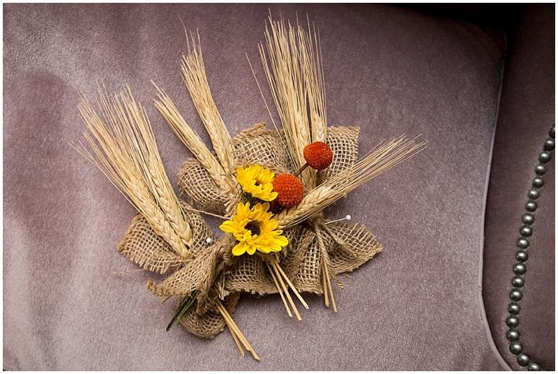 sunflower boutonnière