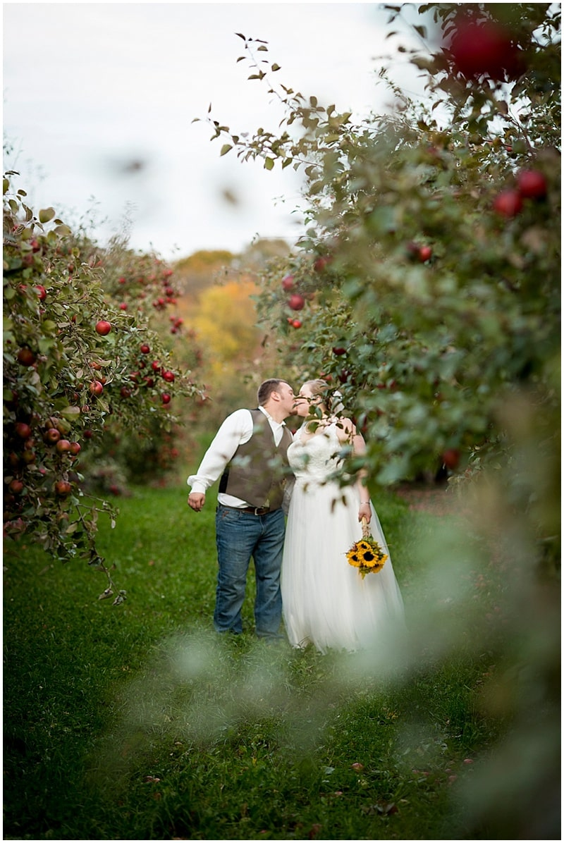 orchard wedding photos