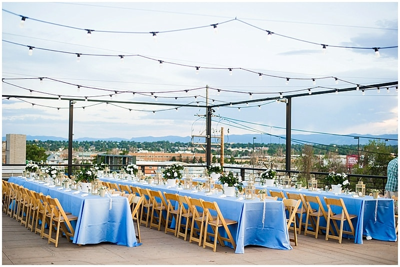 rooftop wedding decor