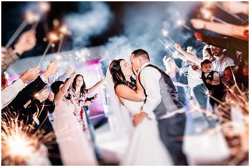sparkler wedding photo