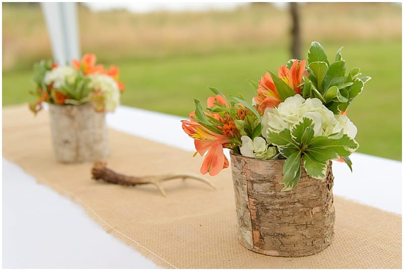 orange wedding centerpieces