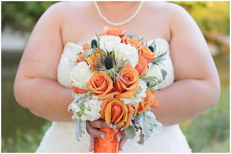 white and orange bouquet