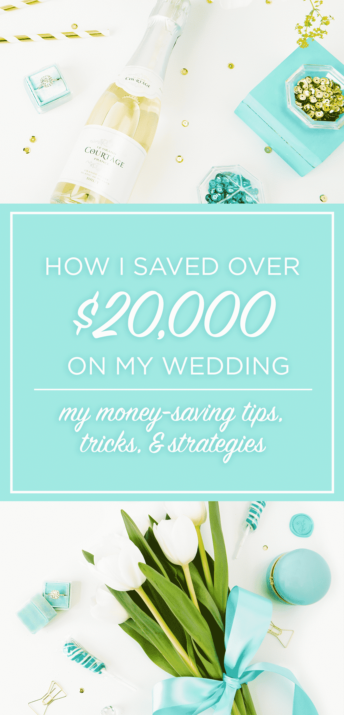 Find out how I saved over half off the cost of my wedding. I'm sharing my top money-saving tips, tricks, and strategies to save you money on your big day!