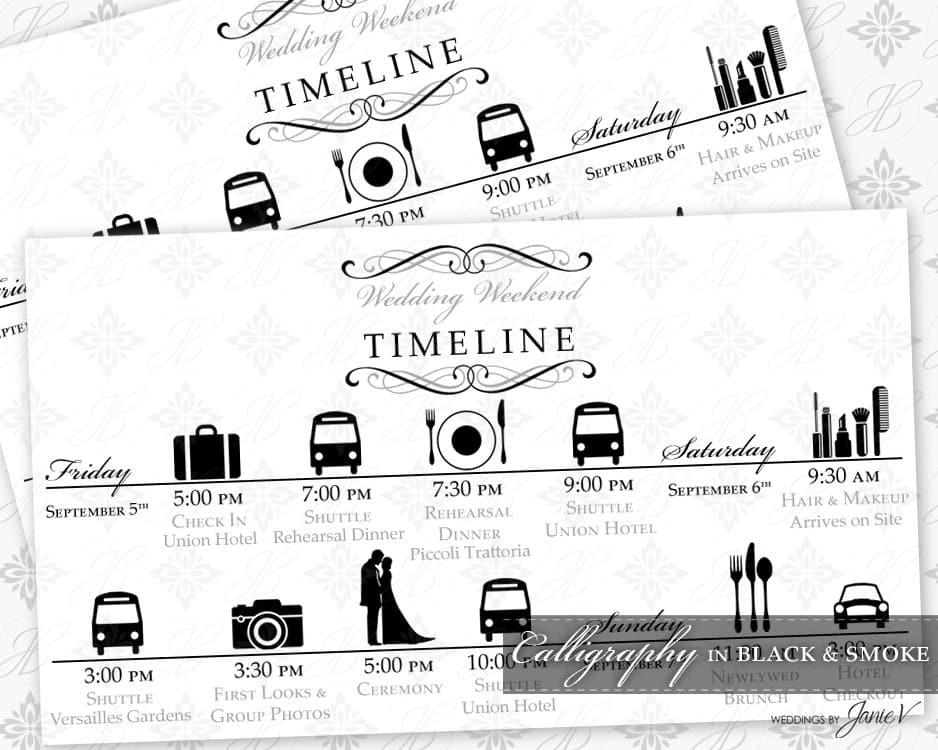 DIY Printable Wedding Timeline Template By WeddingsbyJanieV