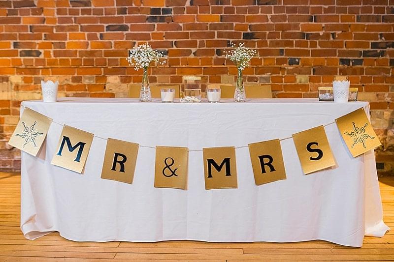 music themed wedding reception