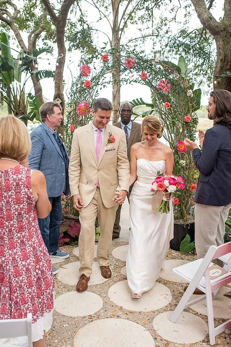 Outdoor lakeside wedding the budget savvy bride wedding recessional junglespirit Gallery