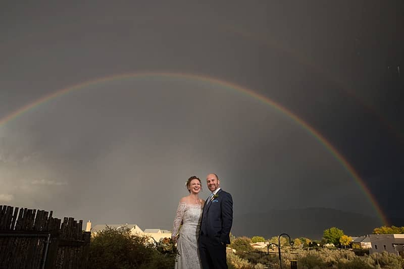 rainbow wedding photos