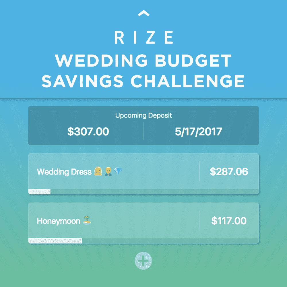 wedding budget savings challenge