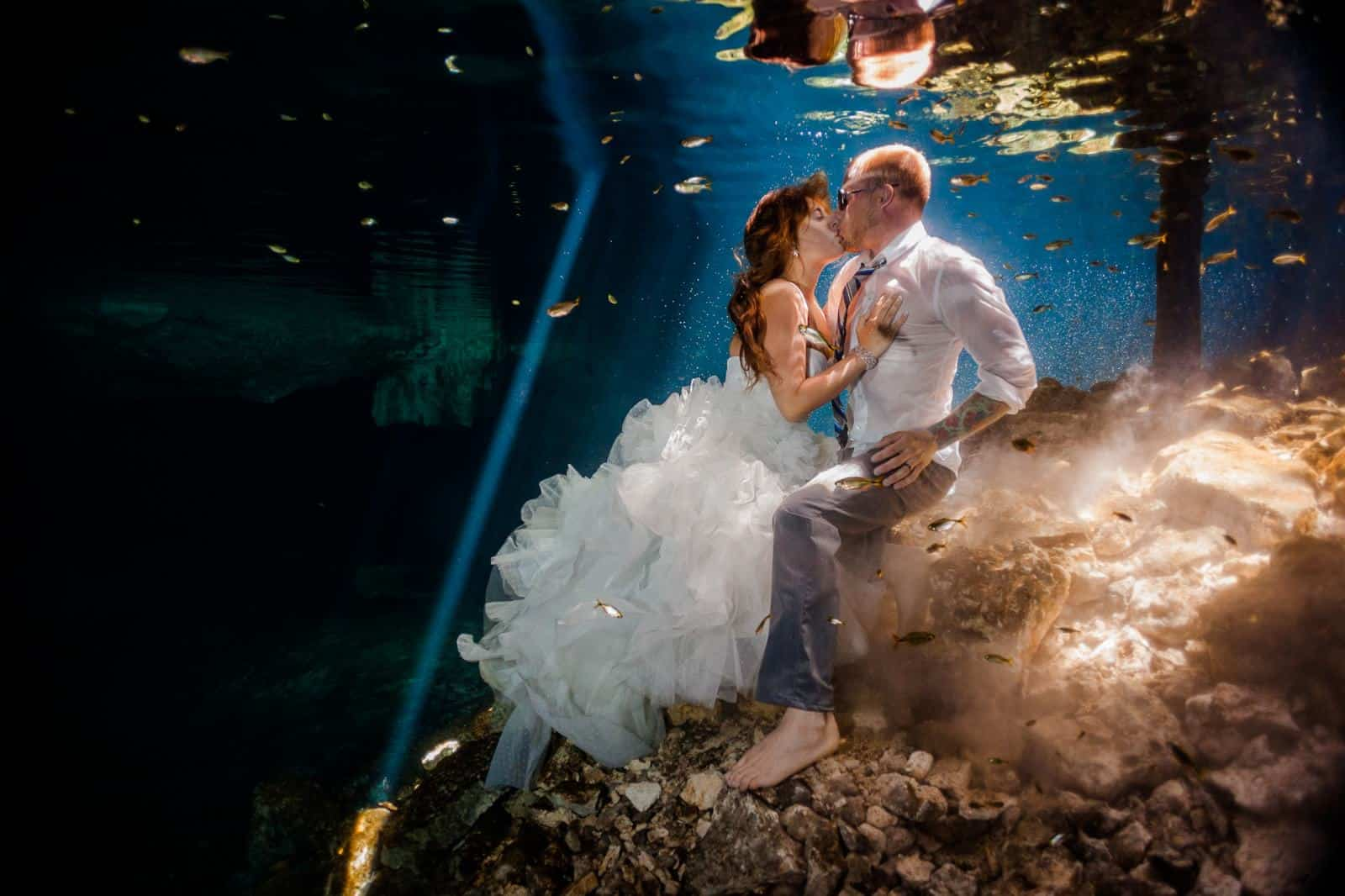 Underwater the Trash Dress