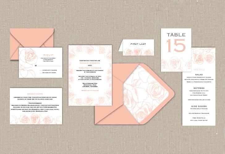 garden wedding printables