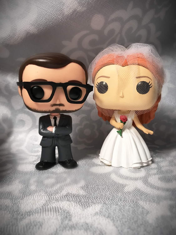Custom Funko Pop Wedding Cake Topper