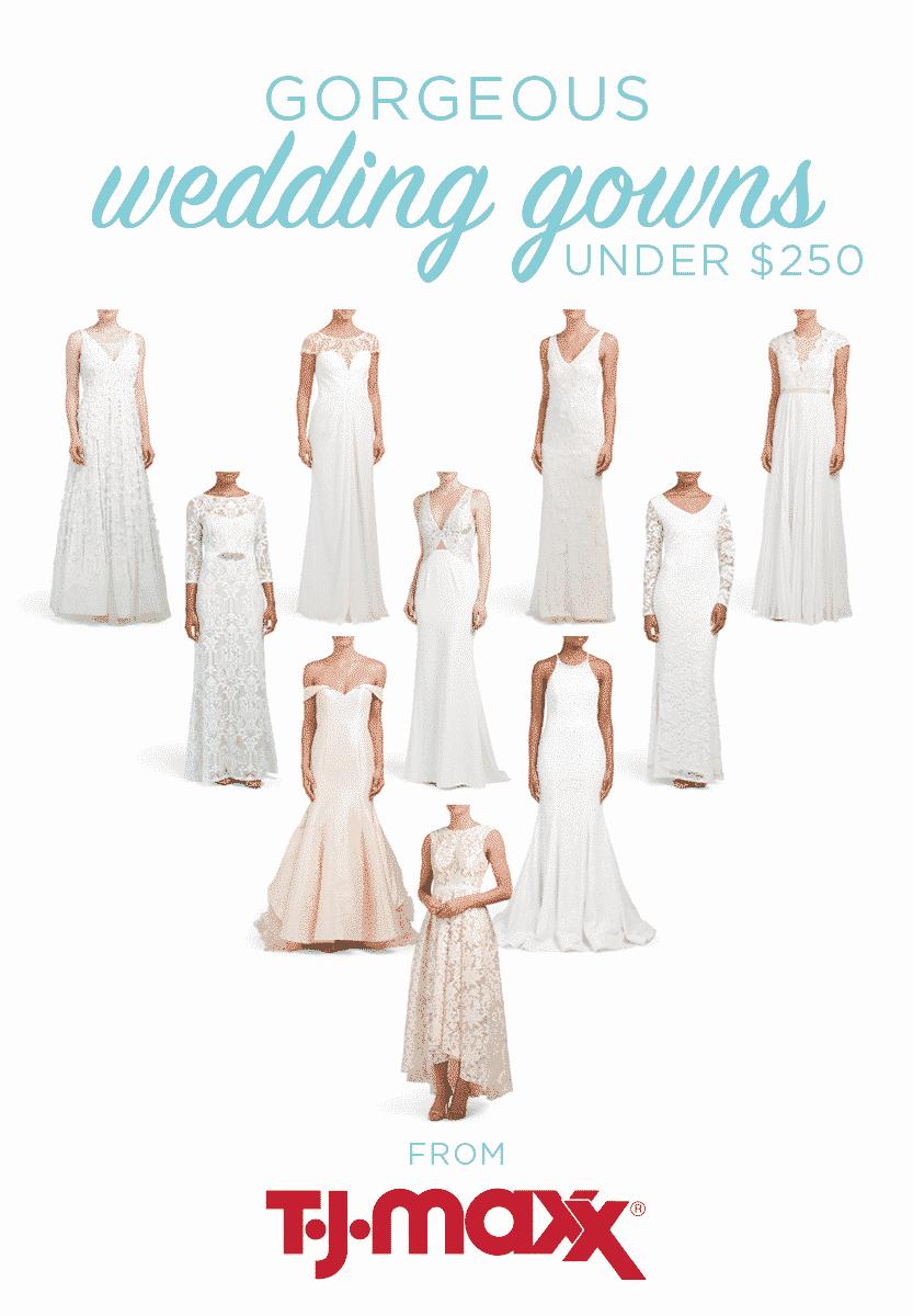 10 wedding dresses under 250 | Savvy wedding finds