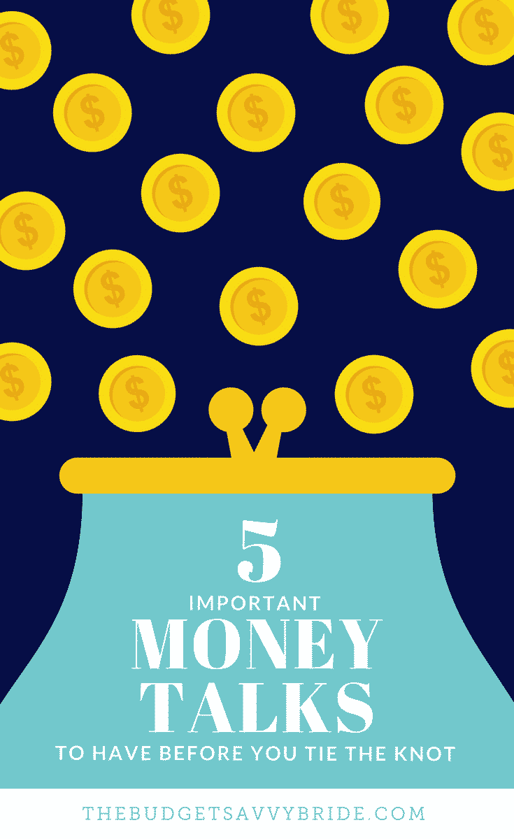 Don't miss these five important money topics to discuss before your big day -- figure out your money styles and strategies before you tie the knot!