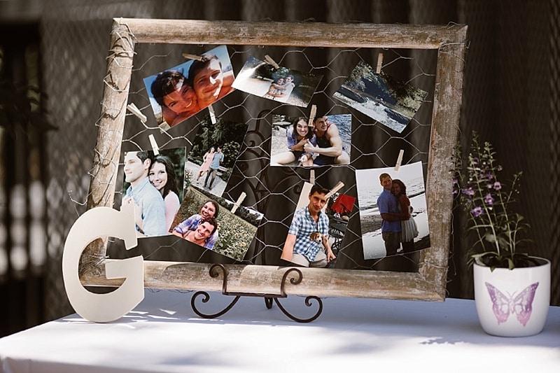 photo wedding decor