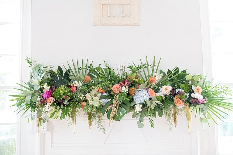 wedding flower garland