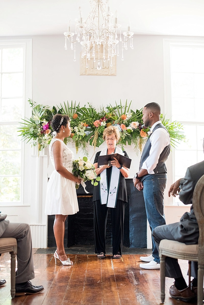 intimate wedding ceremony