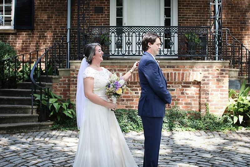 First Look Wedding Ceremony Indoor
