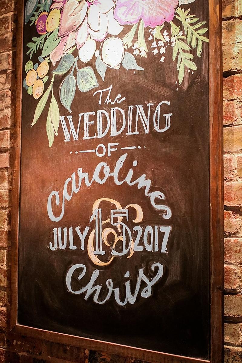wedding chalkboard sign