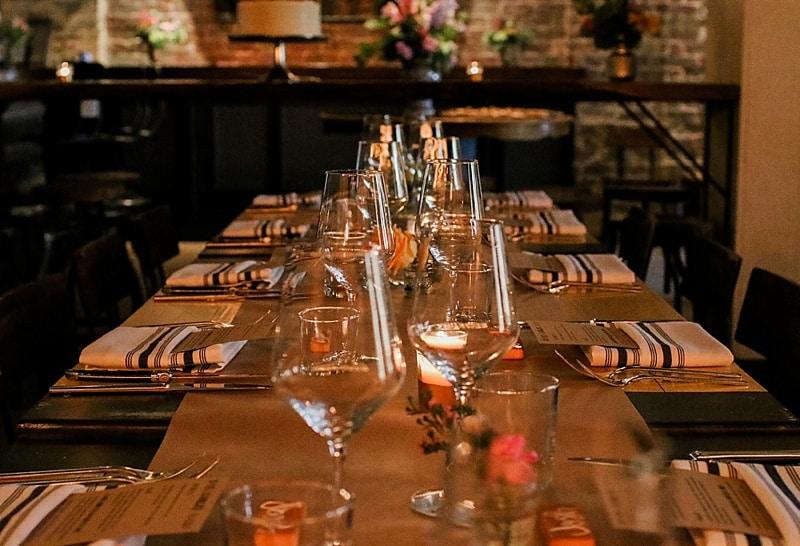 dinner party wedding reception