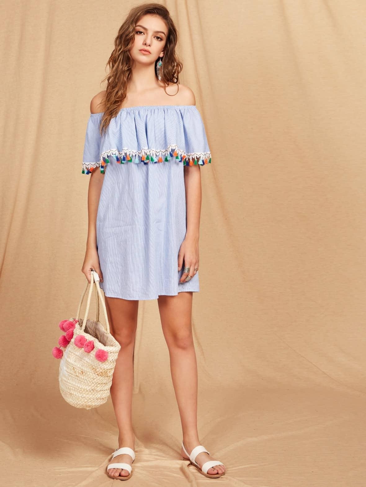 beachy tassel dress