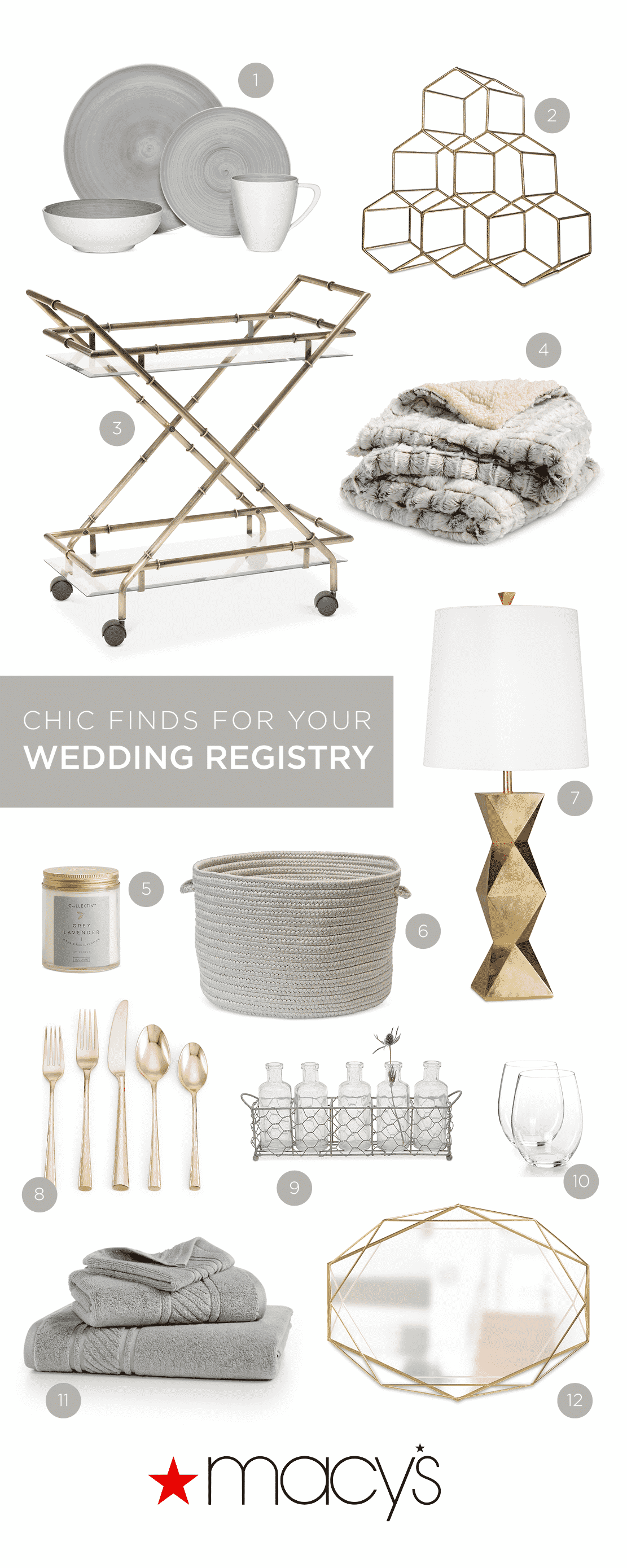 chic finds for your wedding registry from Macy's!