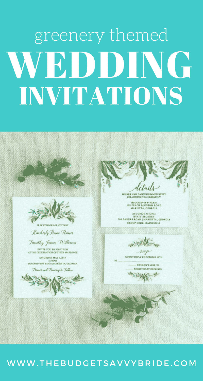 The beauty and timelessness of greenery themed wedding invitations will appeal to every single one of your recipients. Here's our favorite picks...