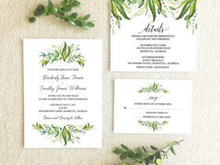 Greenery Wedding Invitation Suite