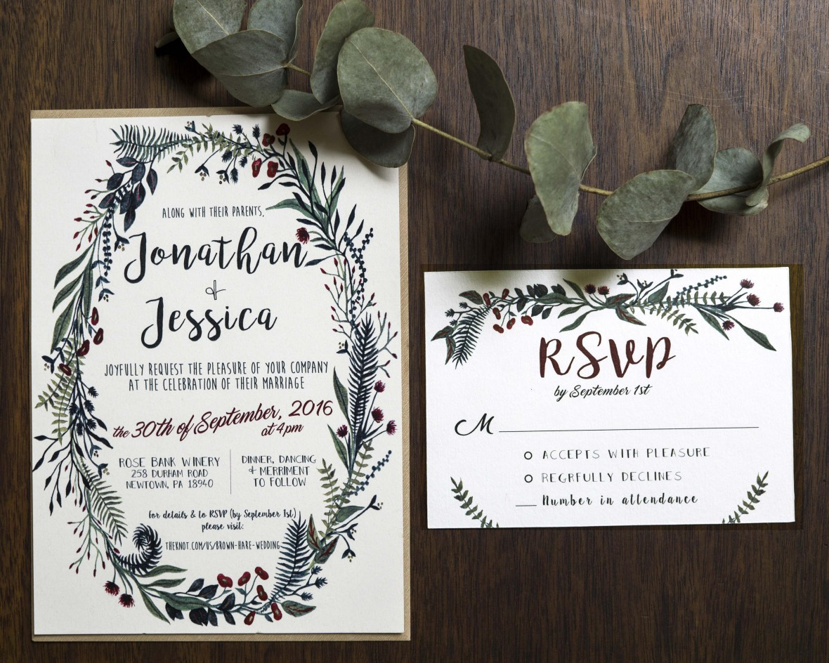 Now and Fern-ever Wedding Invitation